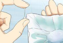 افرازات بيضاء مثل قطع المناديل