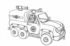 رسومات عن الدفاع المدني للتلوين جاهزة للطباعة